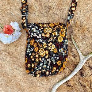 Lightweight floral print crossbody purse!
